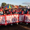 Endegelände 27.10.2018: Mehrere tausend AktivistInnen starten vom Camp aus ihre Aktionen und ziehen in Richtung Braunkohlegrube:    Array