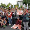 Seebrücke-Demonstration für die Rechte von Geflüchteten und #FreeCarola, Berlin 6.7.2019:    Array