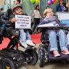 Protest gegen das Reha- und Intensivpflegegesetz:    Array